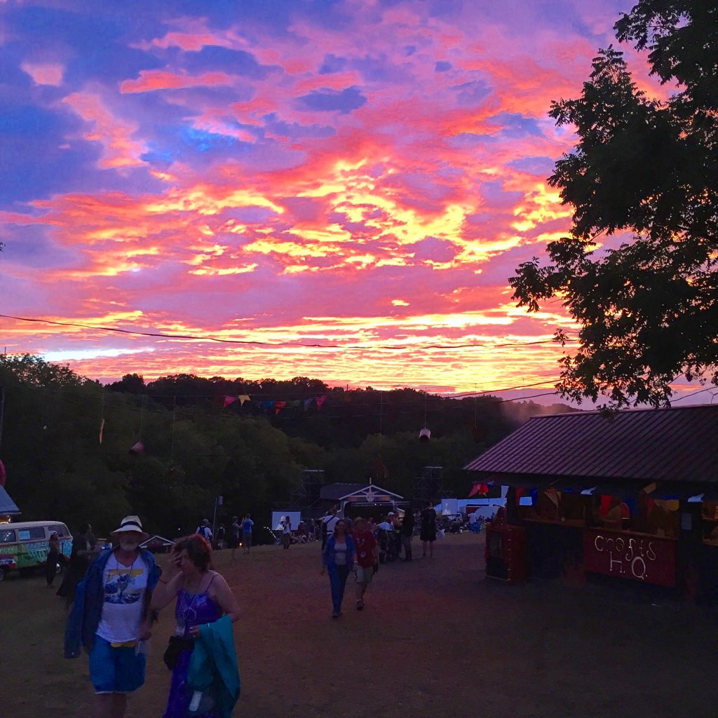 Sunset at fest